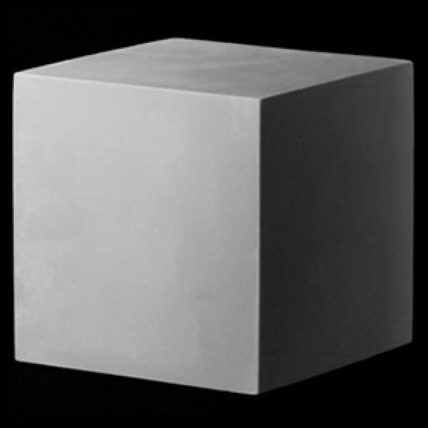 Куб из гипса 20см