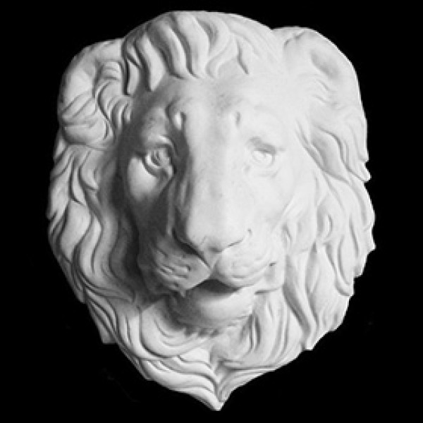 Маска льва из гипса