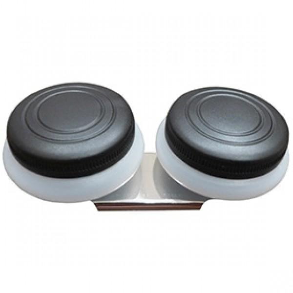 Масленка двойная пластиковая с крышкой для живописи Ø 5 см