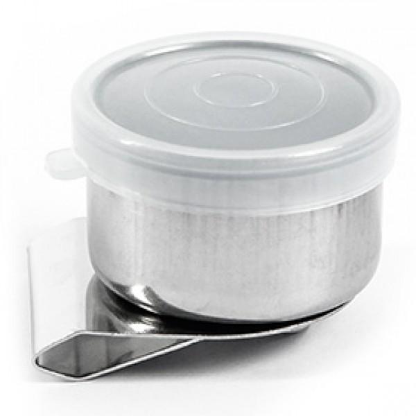 Масленка металлическая с пластиковой крышкой для живописи Ø 4 см