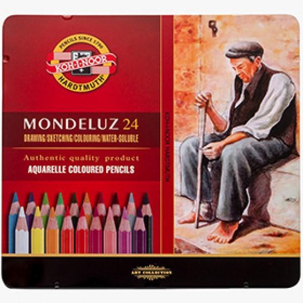 """Набор акварельных карандашей Koh-I-Noor """"MONDELUZ"""" 24 цвета в пенале"""