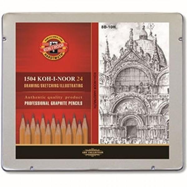 Набор чернографитных карандашей Koh-I-Noor 1504 24 шт