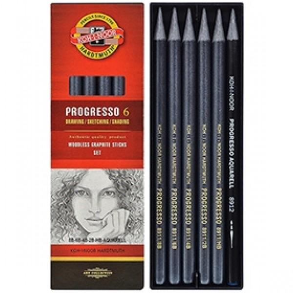 """Набор чернографитных карандашей Koh-I-Noor """"Progresso"""" 8915 6шт"""