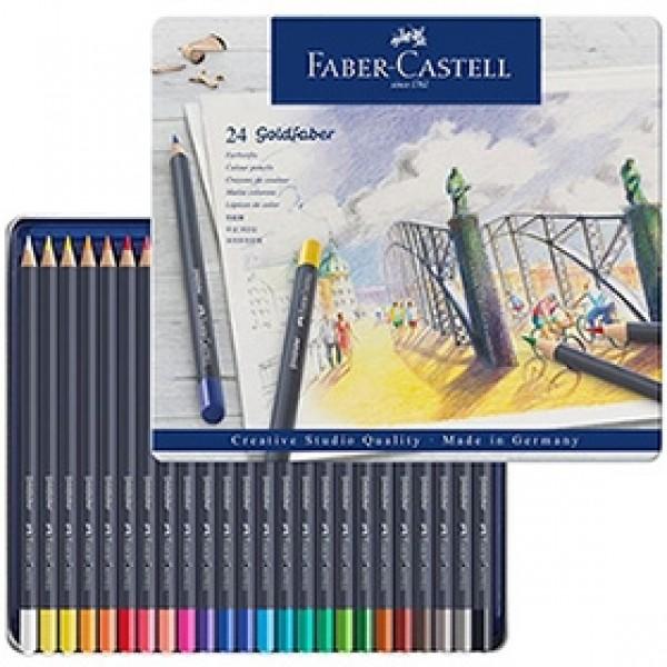 "Набор цветных карандашей Faber-Castell ""Goldfaber"" 24 цвета в пенале"