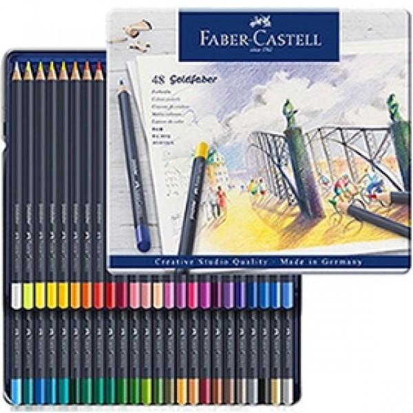 """Набор цветных карандашей Faber-Castell """"Goldfaber"""" 48 цветов в пенале"""