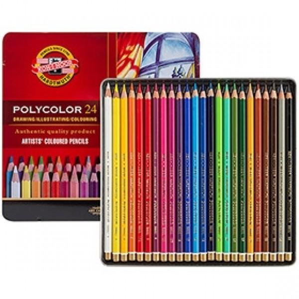 """Набор цветных карандашей Koh-i-Noor """"Polycolor"""" 24 цвета в пенале"""