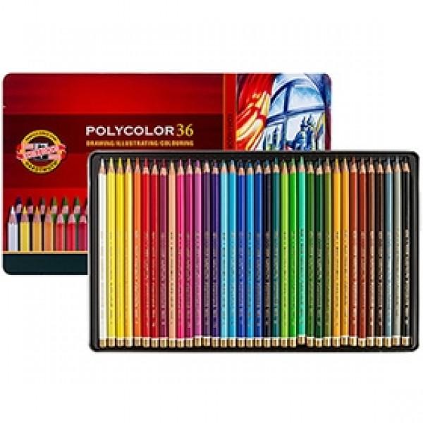 """Набор цветных карандашей Koh-i-Noor """"Polycolor"""" 36 цветов в пенале"""