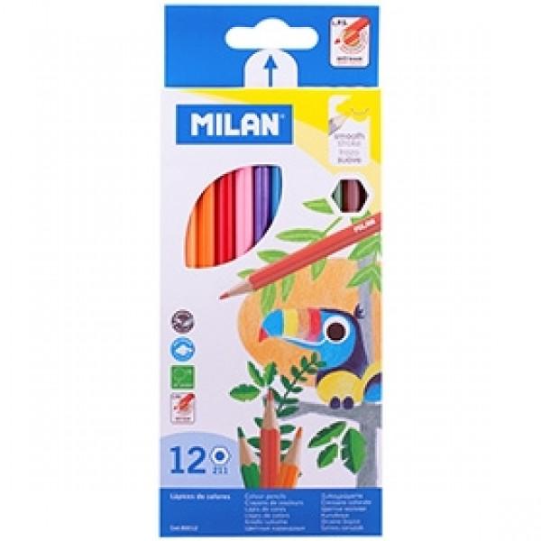 """Набор цветных карандашей Milan """"211"""" 12 цветов"""