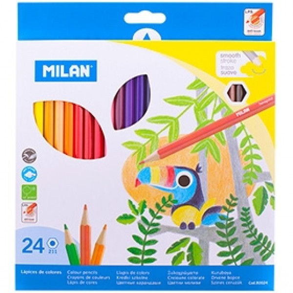 "Набор цветных карандашей Milan ""211"" 24 цвета"