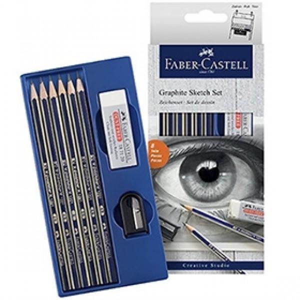 """Набор для рисования Faber-Castell """"Graphite Sketch"""" 8 предметов"""