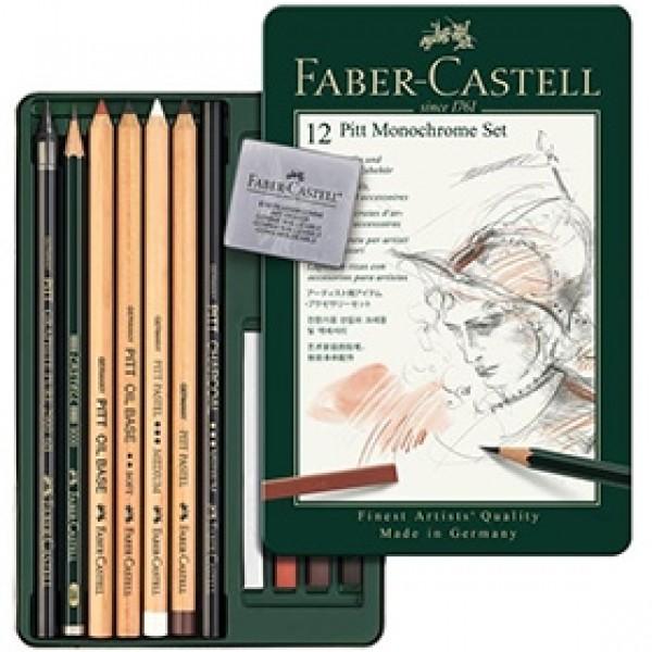 "Набор для рисования Faber-Castell ""Pitt Monochrome"" 12 предметов"