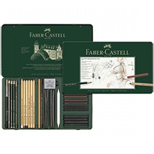 "Набор для рисования Faber-Castell ""Pitt Monochrome"" 33 предмета"
