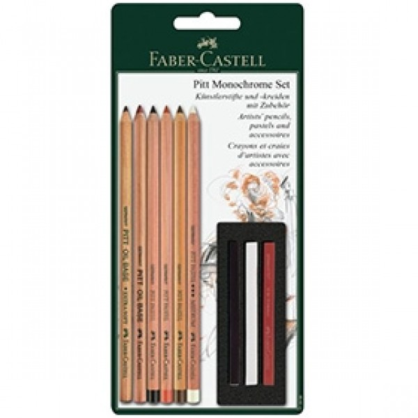 "Набор для рисования Faber-Castell ""Pitt Monochrome"" 9 предметов"