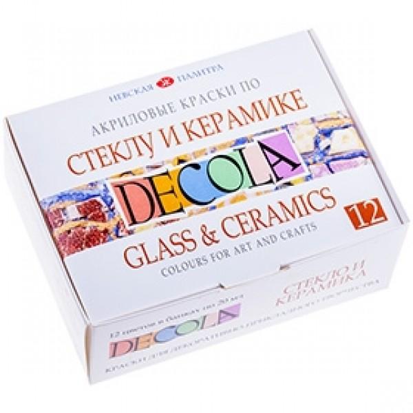 """Набор красок по стеклу и керамике """"DECOLA"""" 12 цветов"""