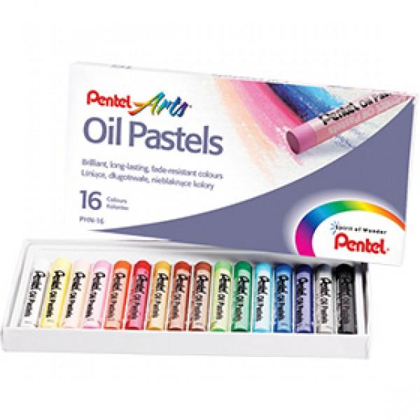 Набор масляной пастели Pentel Arts Oil Pastels 16 цветов