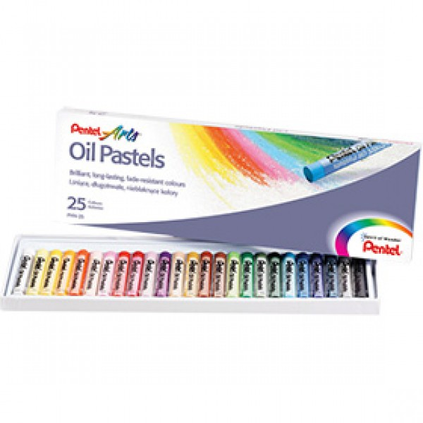 Набор масляной пастели Pentel Arts Oil Pastels 25 цветов