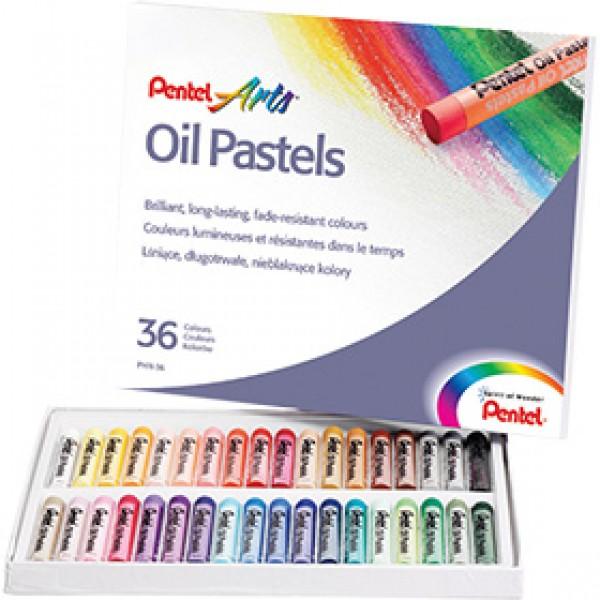 Набор масляной пастели Pentel Arts Oil Pastels 36 цветов