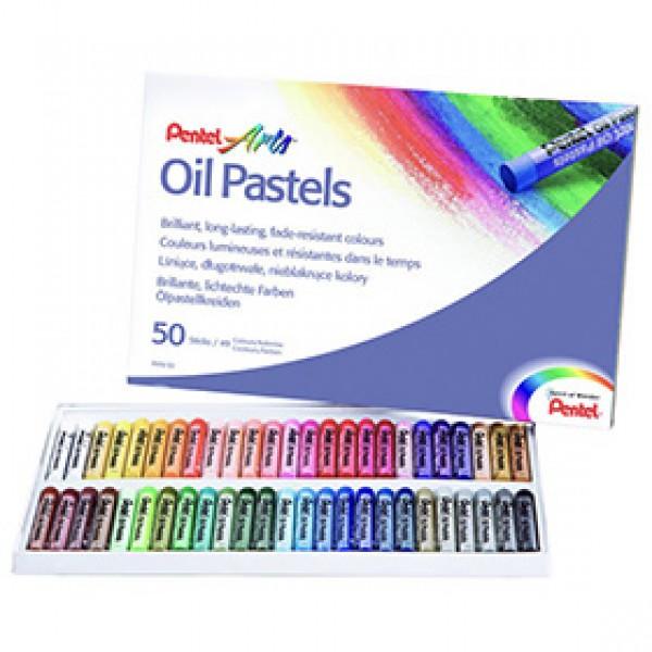 Набор масляной пастели Pentel Arts Oil Pastels 50 цветов