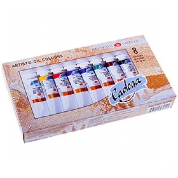 Набор масляных красок ЛАДОГА 8 цветов, 18мл