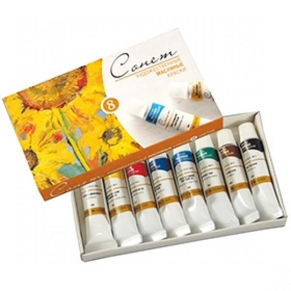 Набор масляных красок СОНЕТ 8 цветов, 10мл