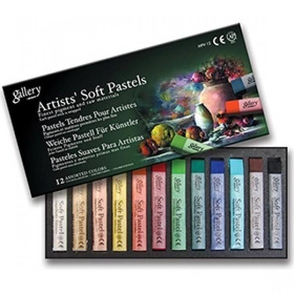 """Набор мягкой сухой пастели Mungyo """"Gallery Artist Soft Pastels"""" 12 базовых цветов"""
