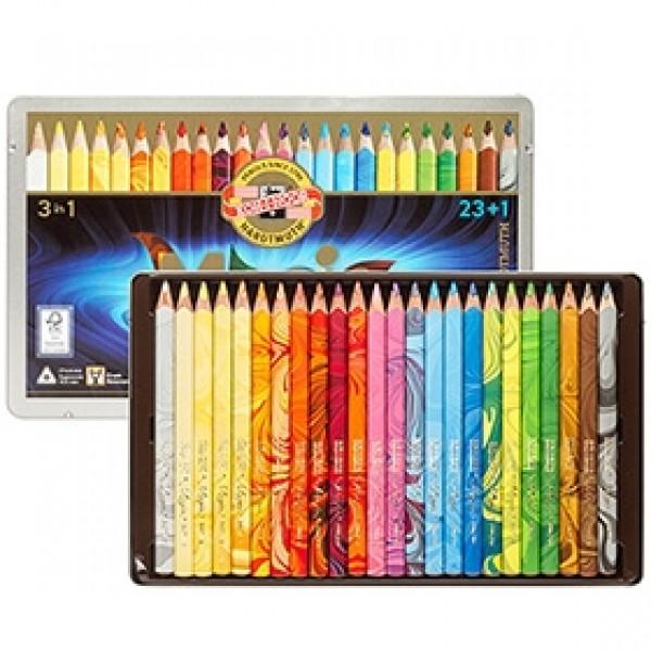 "Набор многоцветных карандашей Koh-I-Noor ""Magic"" 23 цвета + блендер в пенале"