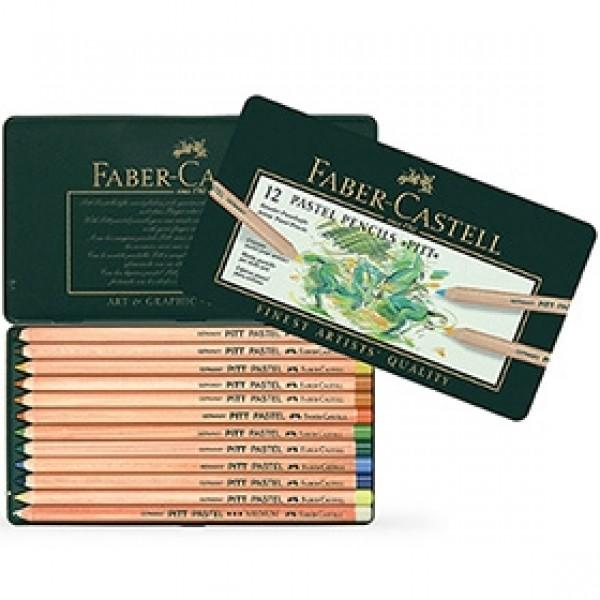 """Набор пастельных карандашей Faber-Castell """"Pitt Pastel"""" 12 цветов в пенале"""