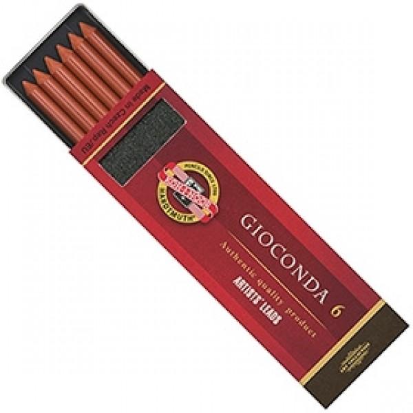 """Набор стержней Ø 5,6 мм Koh-I-Noor """"Gioconda"""" 4373 Сепия красно-коричневая 6шт"""