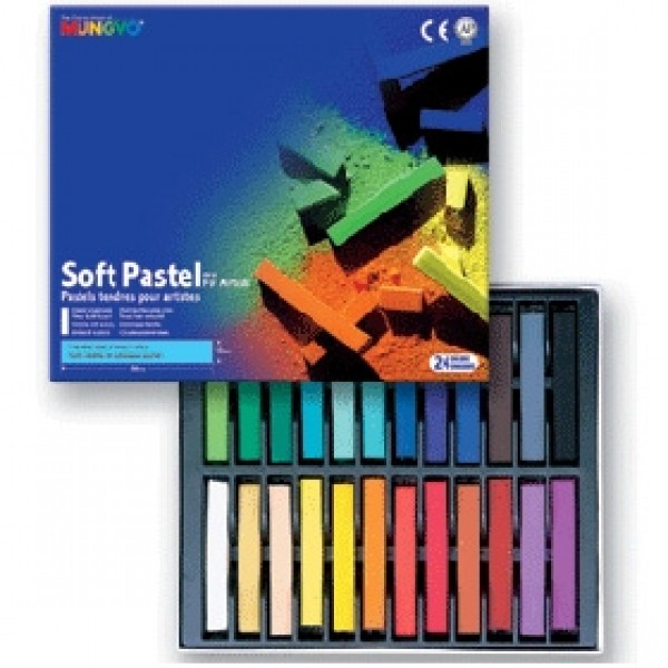 """Набор сухой пастели Mungyo """"Soft Pastel"""" 24 цвета"""