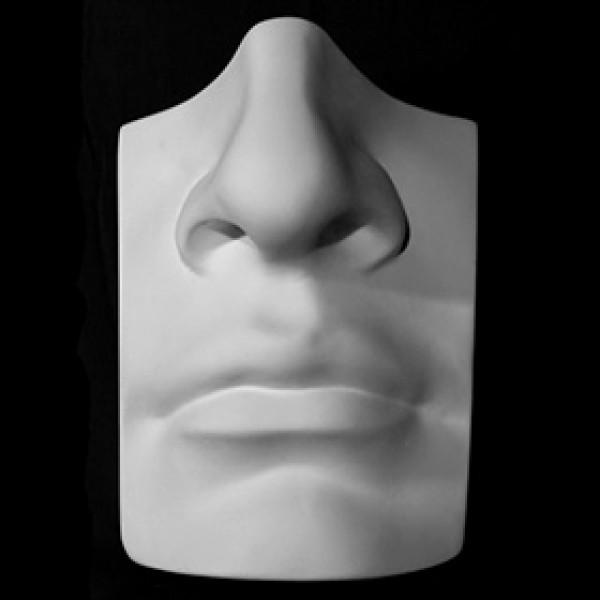 Нос с губами Давида из гипса