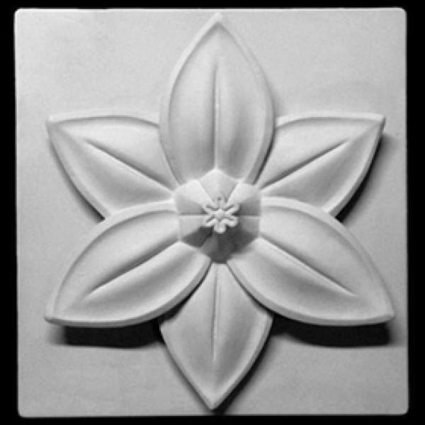 Орнамент Шестилистник цветок лотоса из гипса