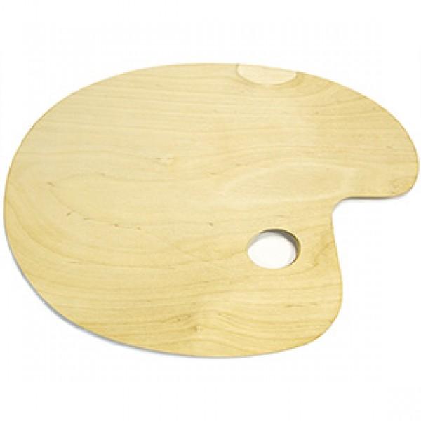Палитра деревянная овальная большая