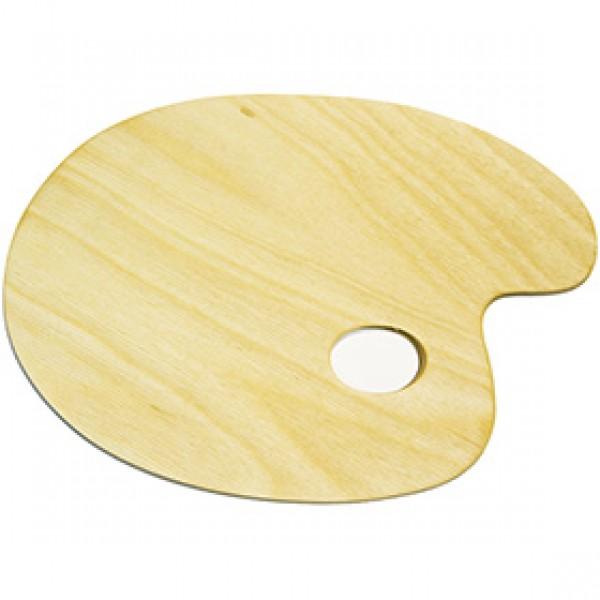 Палитра деревянная овальная малая