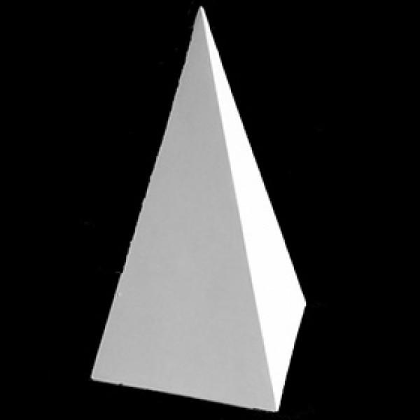 Пирамида 4 гранная из гипса