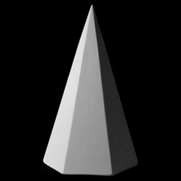 Пирамида 6 гранная из гипса