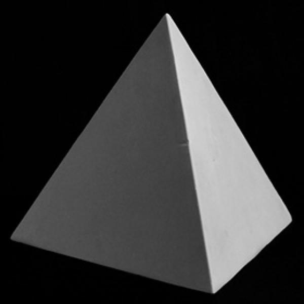 Пирамида правильная из гипса