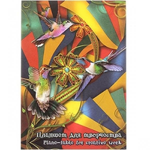 """Планшет цветного картона А5 """"Калейдоскоп"""" 20 листов 4 цвета"""