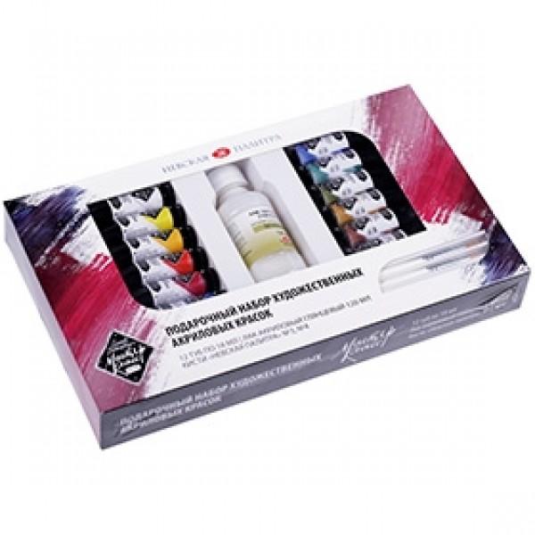 Подарочный набор акриловых красок Мастер-Класс 12 цветов 18мл
