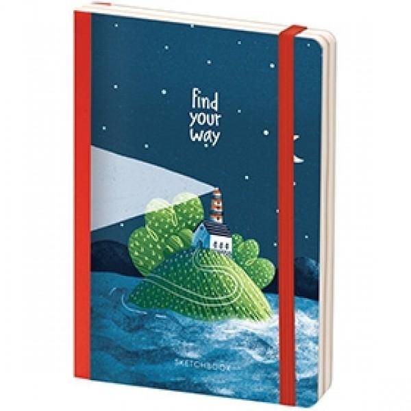 """Скетчбук для рисования Greenwich Line """"Find Your Way"""" 12х18 см 80 листов"""