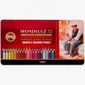 """Набор акварельных карандашей Koh-I-Noor """"MONDELUZ"""" 72 цвета в металическом пенале"""