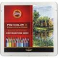 """Набор цветных карандашей Koh-i-Noor """"Polycolor"""" Пейзаж 24 цвета в пенале"""