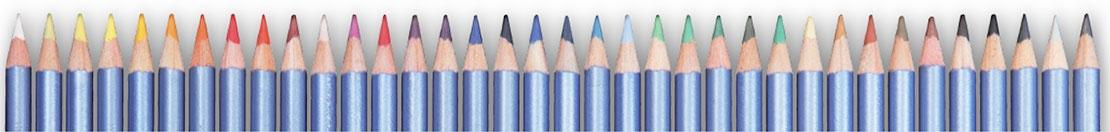 широкая цветовая гамма акварельных карандашей Cretacolor